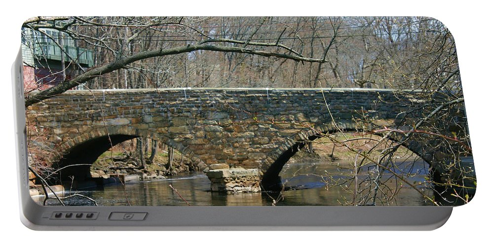Denyse Duhaime Photography Portable Battery Charger featuring the photograph Choate Bridge Ipswich Ma by Denyse Duhaime
