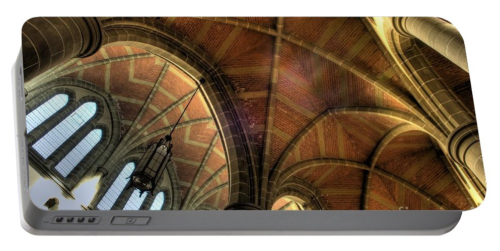 Cathedral Portable Battery Charger featuring the photograph Christ Church Cathedral Roof Detail by Bob Christopher