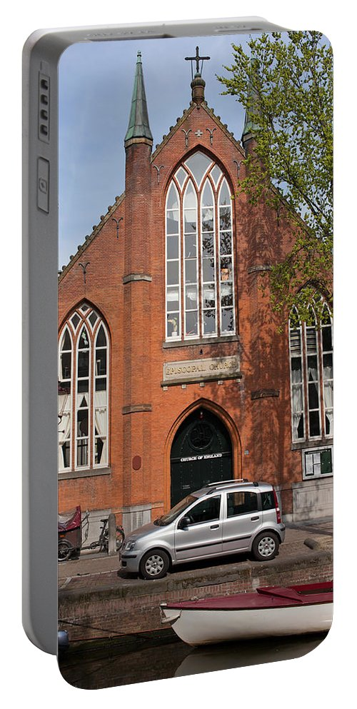 Chirst Portable Battery Charger featuring the photograph Christ Church Of England In Amsterdam by Artur Bogacki
