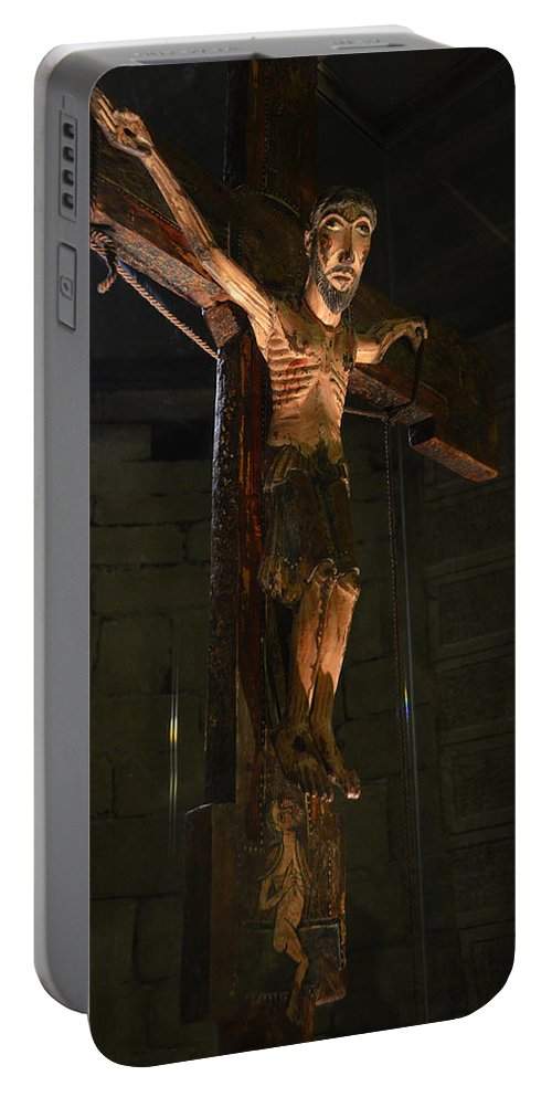 Church Portable Battery Charger featuring the photograph Christ Of Salardu by RicardMN Photography