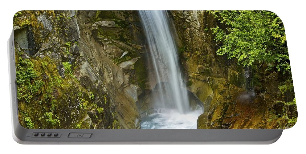 Christine Falls Portable Battery Charger featuring the photograph Christine Falls by SC Heffner