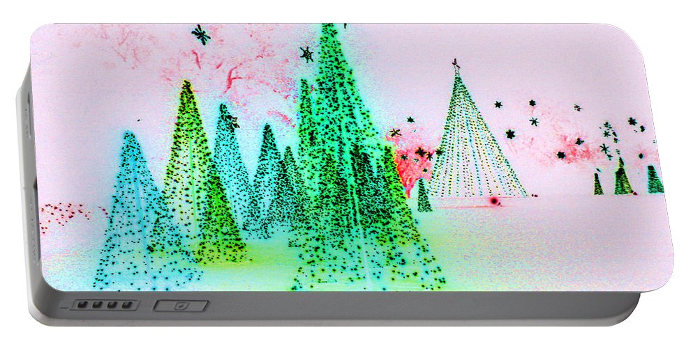 Digital Art Portable Battery Charger featuring the photograph Christmas Blues And Greens by Marian Bell