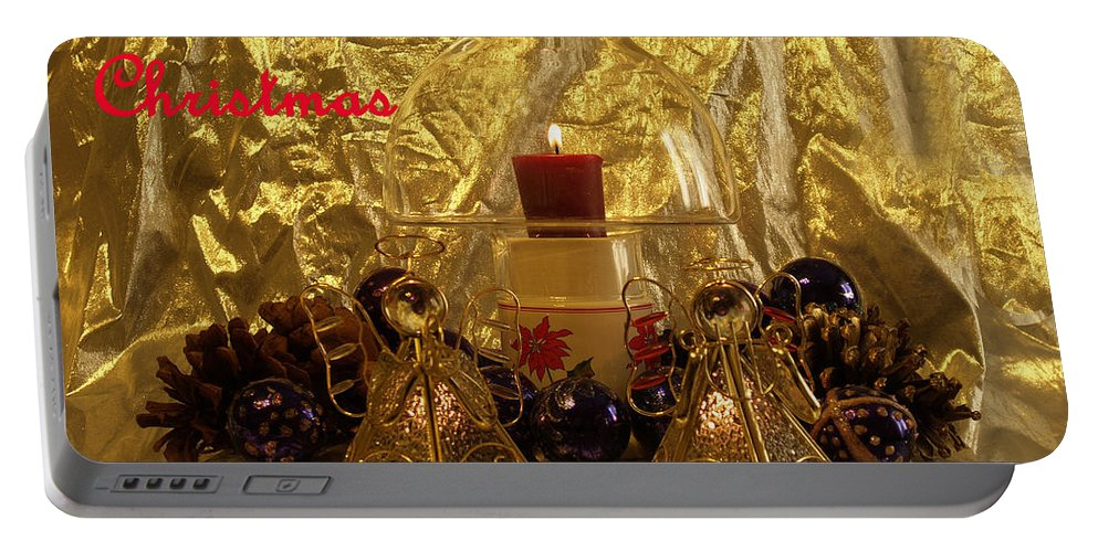 Christmas Candles Portable Battery Charger featuring the photograph Christmas Candles by Bob Johnson