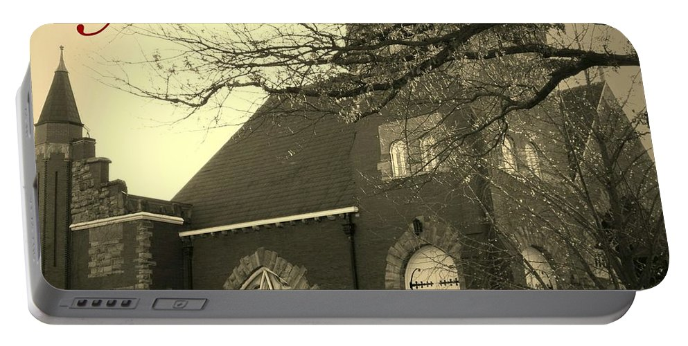 Christmas Portable Battery Charger featuring the photograph Christmas Chapel by Chris Berry