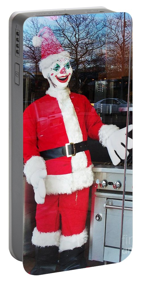 Christmas Portable Battery Charger featuring the photograph Christmas Clown by Eric Schiabor
