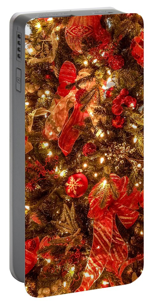 Optical Playground By Mp Ray Portable Battery Charger featuring the photograph Christmas Dazzle by Optical Playground By MP Ray
