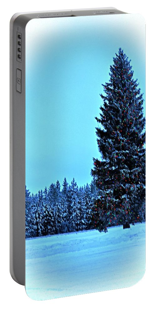 Island Park Portable Battery Charger featuring the photograph Christmas In The Valley by Image Takers Photography LLC - Laura Morgan