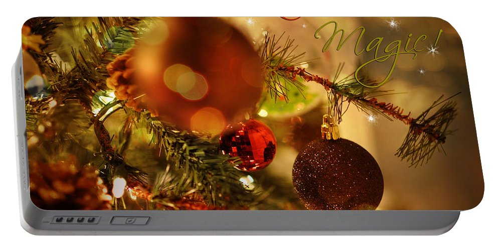 Christmas Portable Battery Charger featuring the photograph Christmas Magic by Paulette B Wright