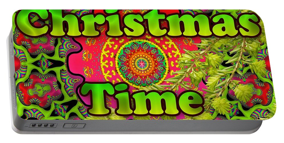 Holiday Portable Battery Charger featuring the digital art Christmas Time by Robert Orinski