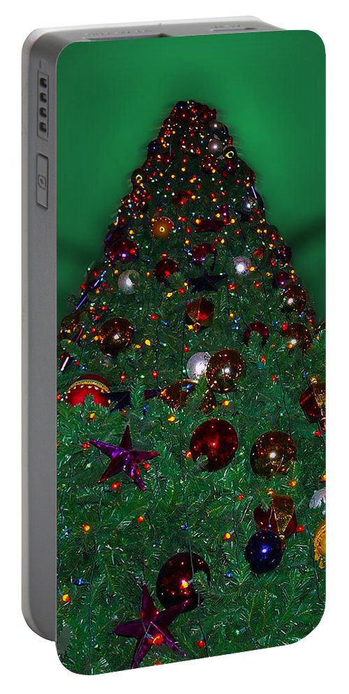 Xmas Tree Portable Battery Charger featuring the photograph Christmas Tree by Thomas Woolworth