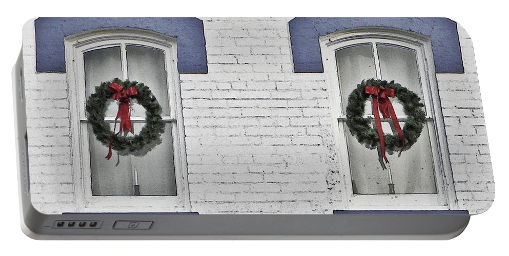 Christmas Portable Battery Charger featuring the photograph Christmas Wreaths by Chris Berry