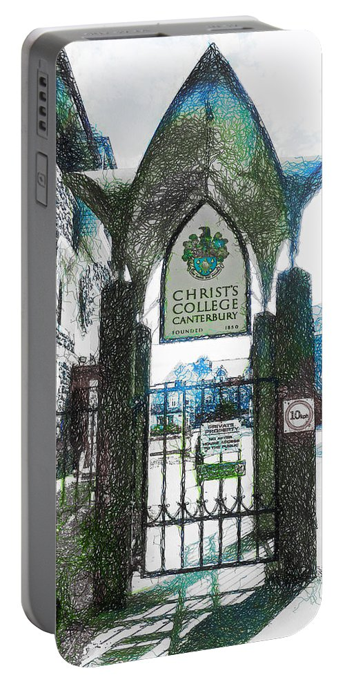 Christ's Portable Battery Charger featuring the photograph Christ's College Canterbury by Steve Taylor