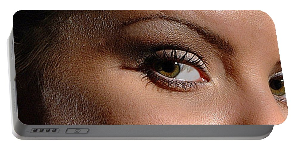 Woman Portable Battery Charger featuring the photograph Christy Eyes 89 by Gary Gingrich Galleries