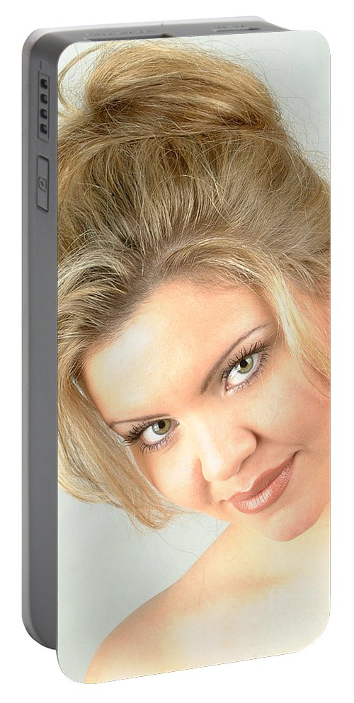 Woman Portable Battery Charger featuring the photograph Christy White Headshot-41 by Gary Gingrich Galleries