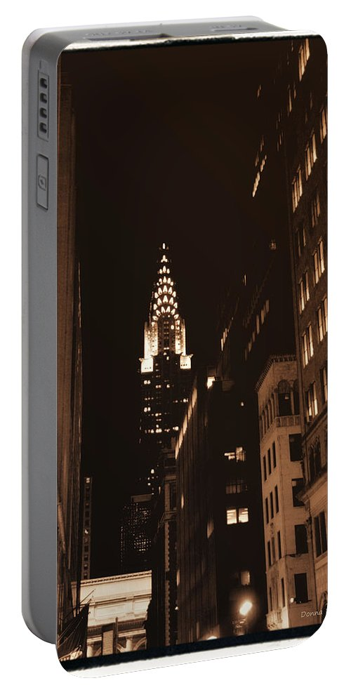 New York Portable Battery Charger featuring the photograph Chrysler Building by Donna Blackhall