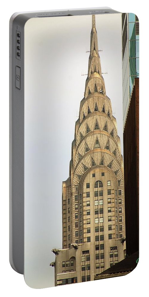Buildings Portable Battery Charger featuring the photograph Chrysler Building by John Schneider