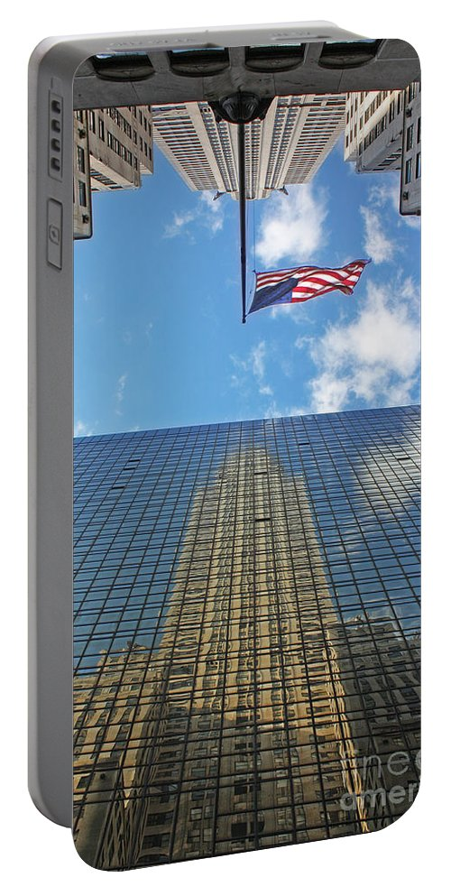 Chrysler Building Reflections Portable Battery Charger featuring the photograph Chrysler Building Reflections Vertical 1 by Nishanth Gopinathan