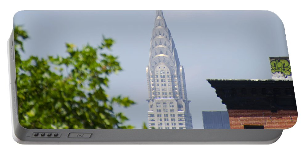 Chrysler Portable Battery Charger featuring the photograph Chrysler Building View by Bill Cannon