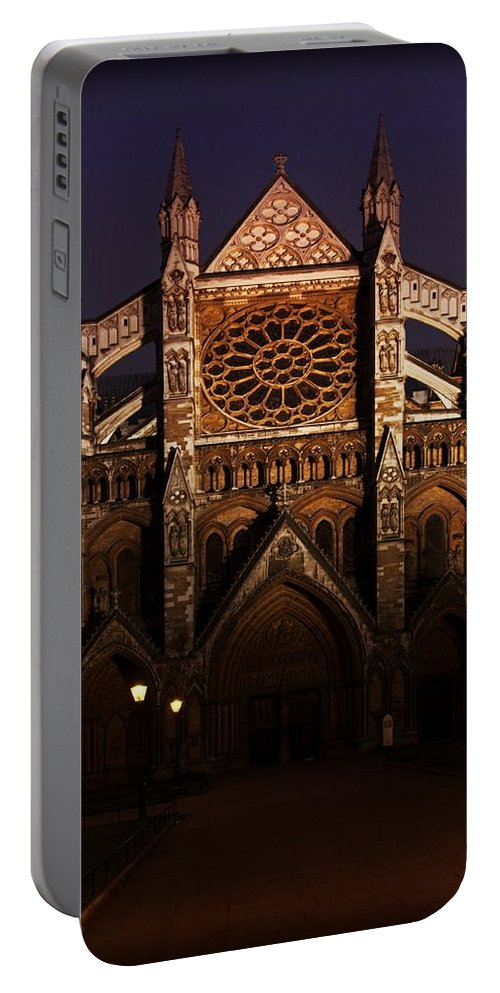 London Portable Battery Charger featuring the photograph Church At Night by Bill Howard