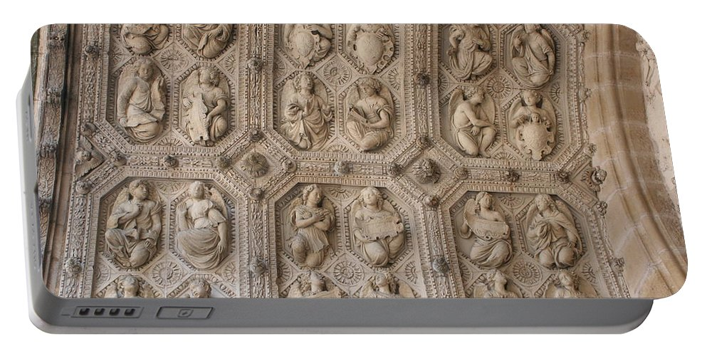 Church Portable Battery Charger featuring the photograph Church Frieze by Christiane Schulze Art And Photography