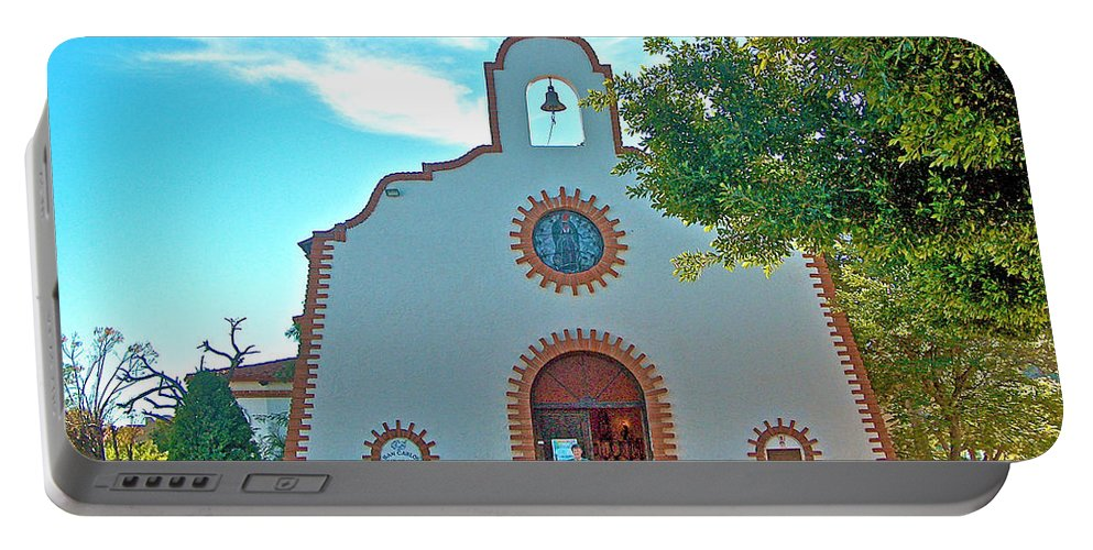 Church In San Carlos Portable Battery Charger featuring the photograph Church In San Carlos-sonora by Ruth Hager