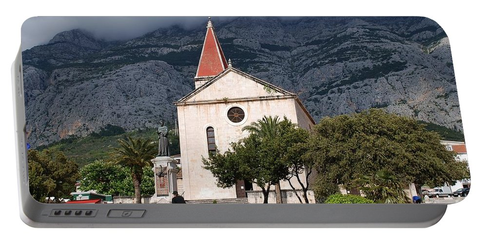 Brela Portable Battery Charger featuring the photograph Church Of St.mark Makarska by David Fowler