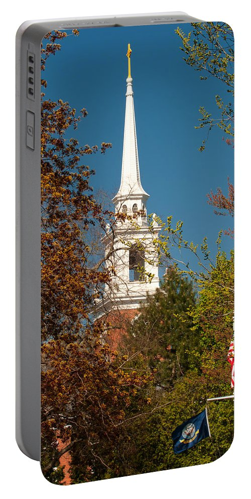 church Of The Redeemer From The Lexington Battlefield Portable Battery Charger featuring the photograph Church Of The Redeemer From The Lexington Battlefield by Paul Mangold