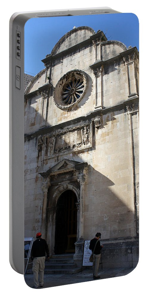 Dubrovnik Portable Battery Charger featuring the photograph Church Of The Saviour by David Nicholls