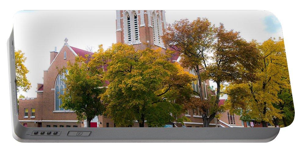 Donna Giesbrecht Portable Battery Charger featuring the photograph Church by Randy Giesbrecht