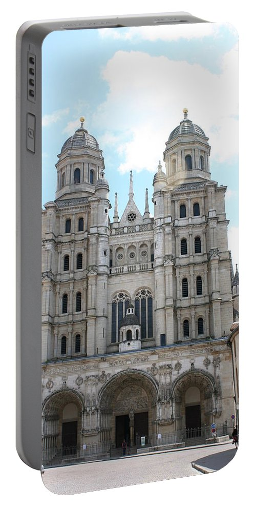 Church Portable Battery Charger featuring the photograph Church Saint Michel - Dijon by Christiane Schulze Art And Photography