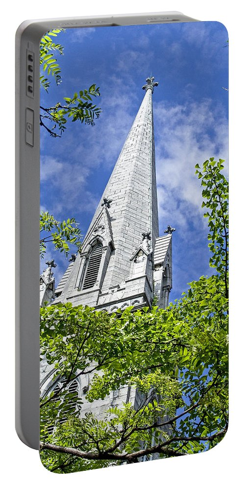 Church Portable Battery Charger featuring the photograph Church Steeple by Eric Swan