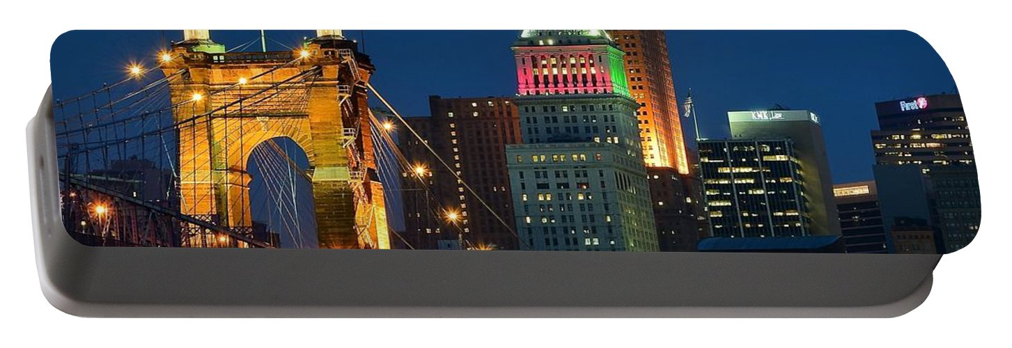 Cincinnati Portable Battery Charger featuring the photograph Cincinnati Close Up by Frozen in Time Fine Art Photography