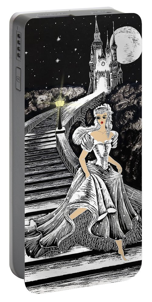 Art Portable Battery Charger featuring the painting Cinderella by Svetlana Sewell