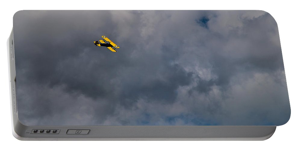 Circling Portable Battery Charger featuring the photograph Circling For 2nd Flyover by Mick Anderson