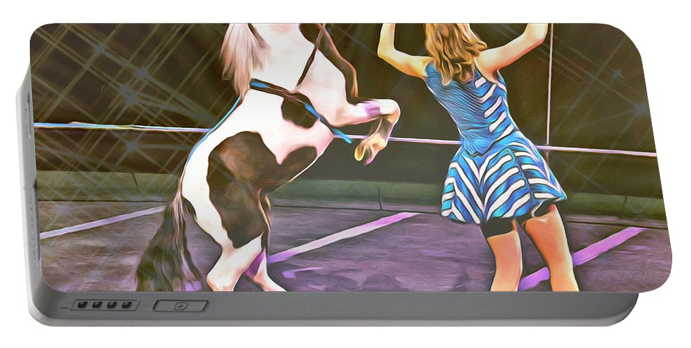 Pony Portable Battery Charger featuring the photograph Circus Pony by Alice Gipson
