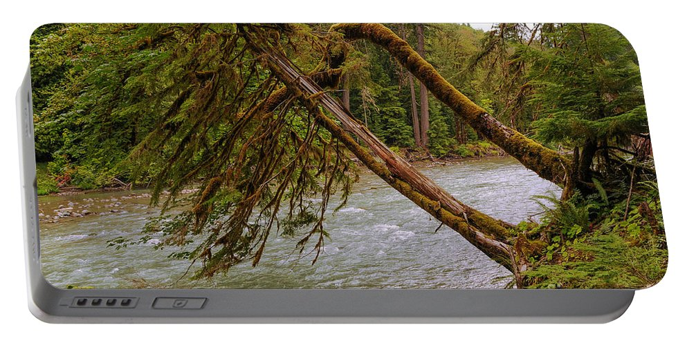 Cispus River Portable Battery Charger featuring the photograph Cispus River At Iron Creek - Washington State by Yefim Bam