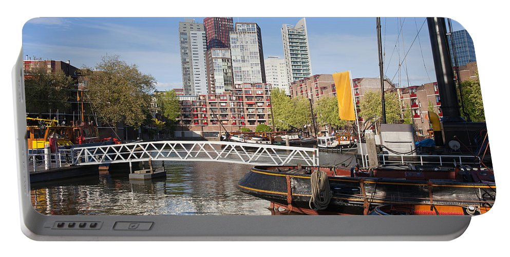 Rotterdam Portable Battery Charger featuring the photograph City Centre Of Rotterdam In Netherlands by Artur Bogacki