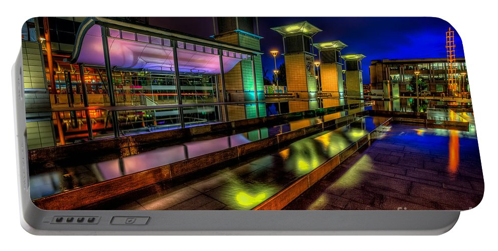 @bristol Portable Battery Charger featuring the photograph City Lights by Adrian Evans