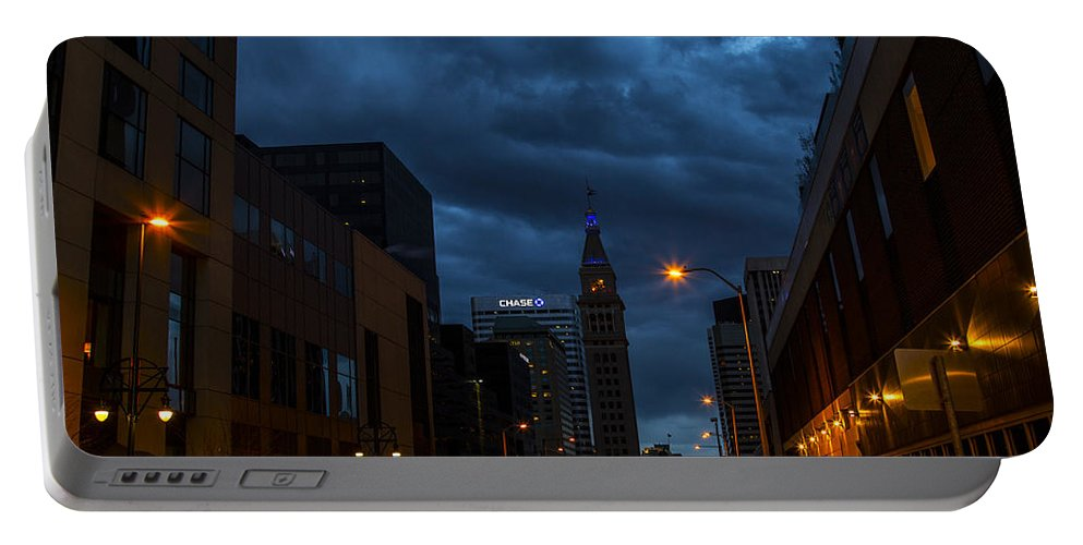 Denver Portable Battery Charger featuring the photograph City Night by Angus Hooper Iii