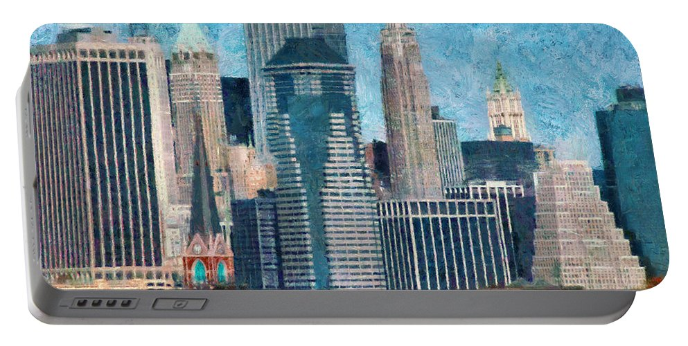 Ny Portable Battery Charger featuring the photograph City - Ny - A Touch Of The City by Mike Savad