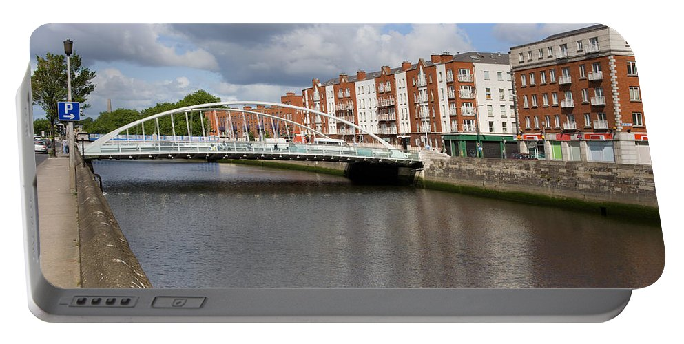 Dublin Portable Battery Charger featuring the photograph City Of Dublin In Ireland by Artur Bogacki