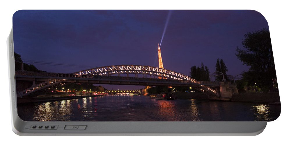 Portable Battery Charger featuring the photograph City Of Lights by Bill Howard