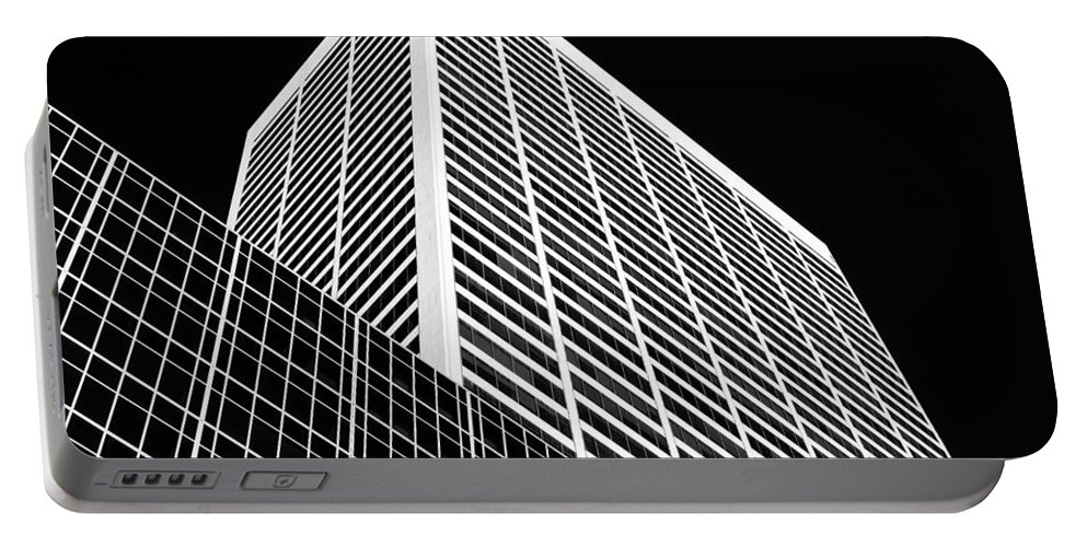 W.r. Grace Building Portable Battery Charger featuring the photograph City Relief by Dave Bowman