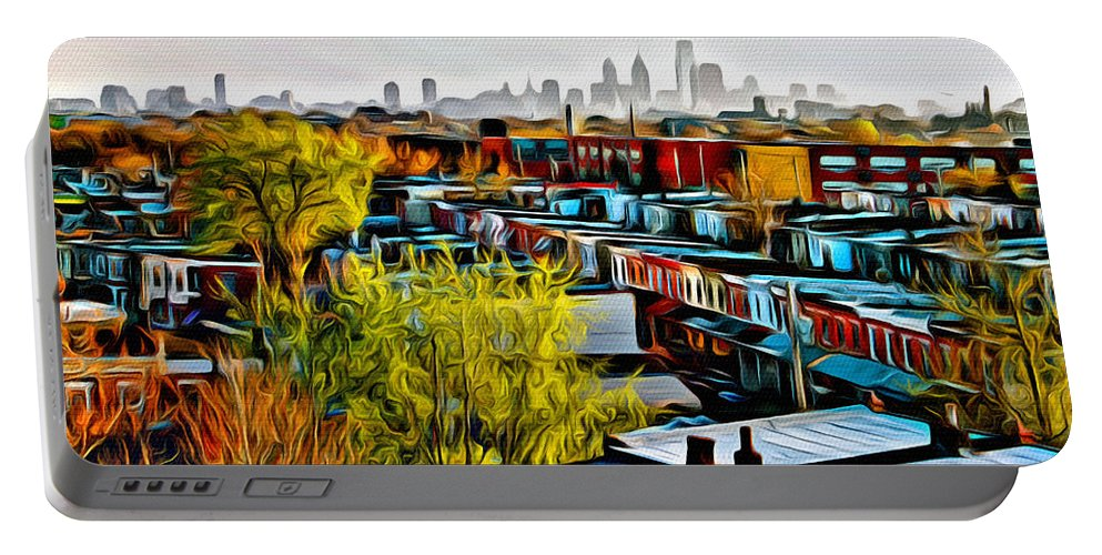 Philadelphia Portable Battery Charger featuring the photograph City View Five by Alice Gipson