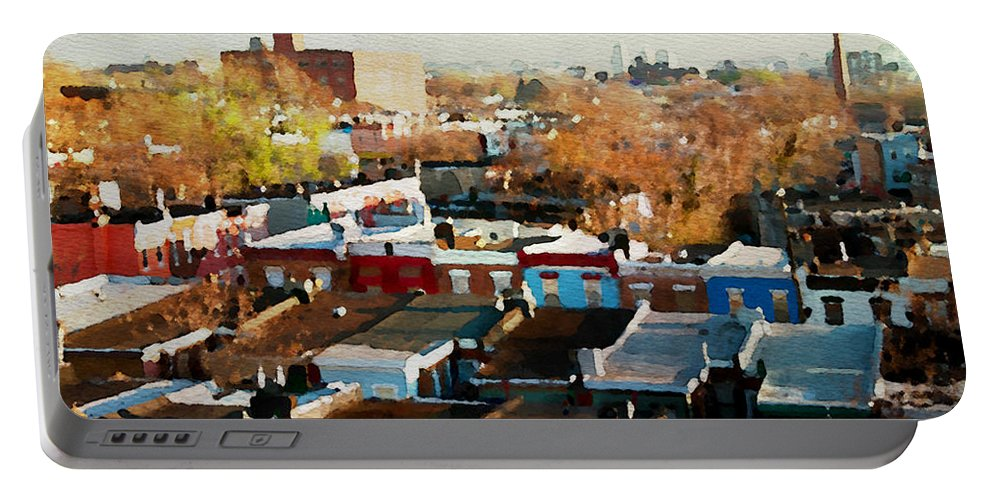 South Philadelphia Portable Battery Charger featuring the photograph City View Six by Alice Gipson