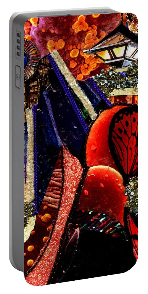 Acrylic Portable Battery Charger featuring the mixed media Cityscape by Melanie Hudson