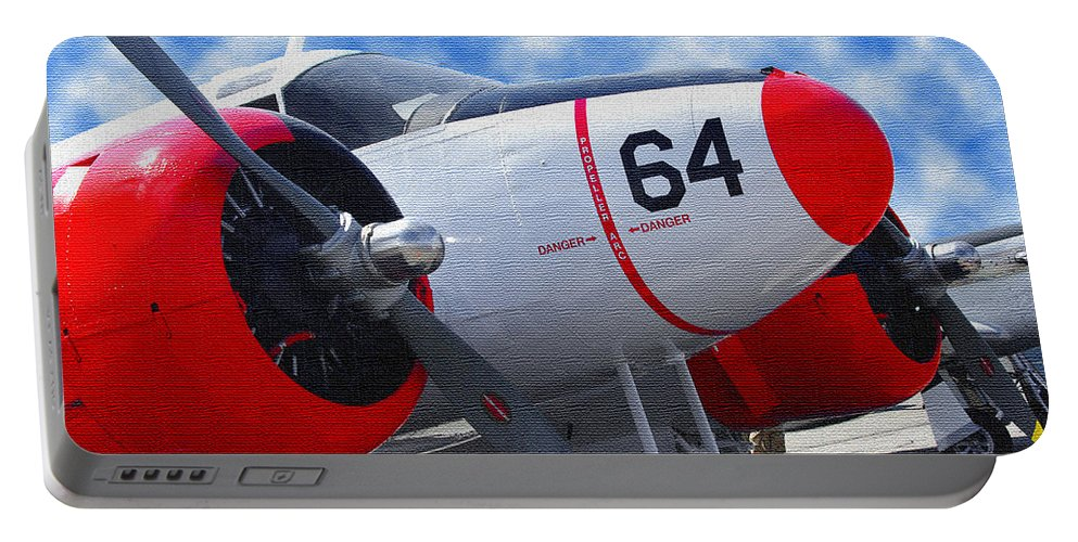 Airplane Portable Battery Charger featuring the photograph Classic Aircraft by James C Thomas