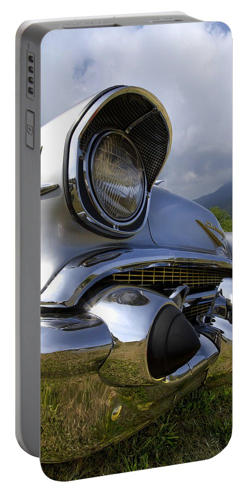 57 Portable Battery Charger featuring the photograph Classic Chevrolet by Debra and Dave Vanderlaan