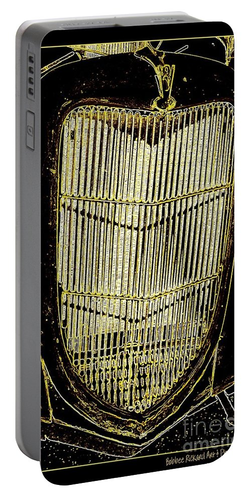 Classics Portable Battery Charger featuring the photograph Classic Gold Grill by Bobbee Rickard