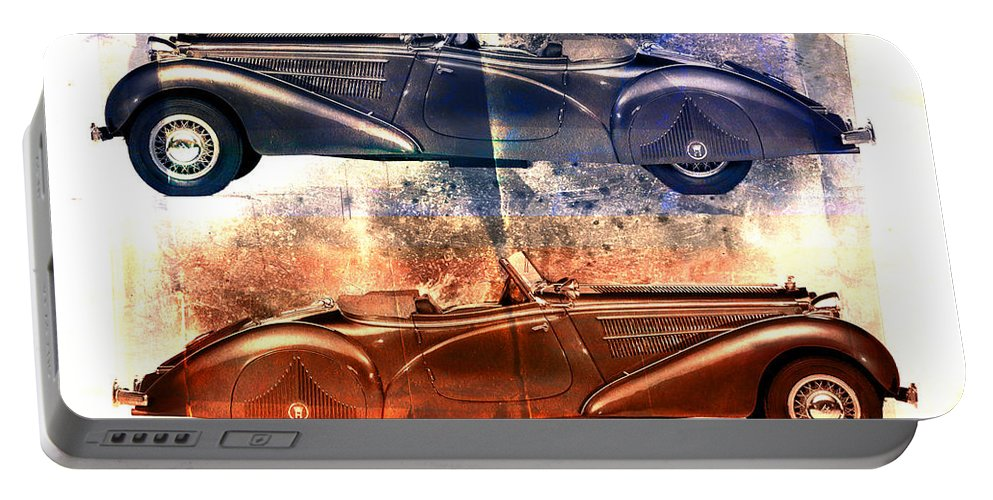 Car Portable Battery Charger featuring the photograph Classic Tourer by David Ridley